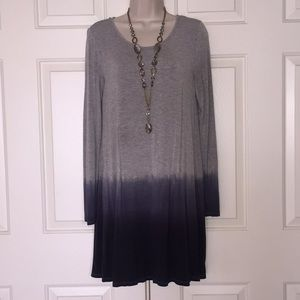 Tops - Gray/Blue Tunic